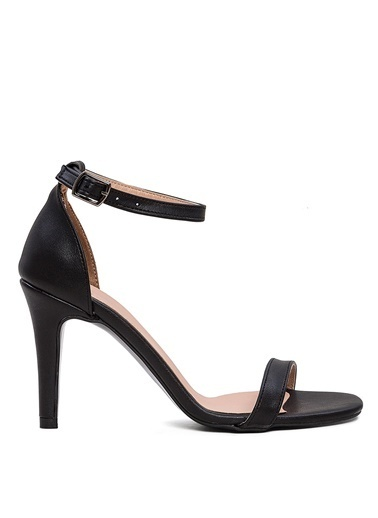 Sole Sisters Sole Sisters Manas2 Siyah Kadın Topuklu Ayakkabı Siyah